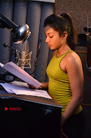Actress Catherine Tresa Pos during Self Dubbing for Gautham Nanda Movie  0052.JPG