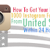 Buy 1000 USA Instagram Followers For $1