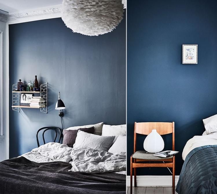 Consigli per decorare la camera da letto con il blu arredamento facile - Colori parete camera da letto ...