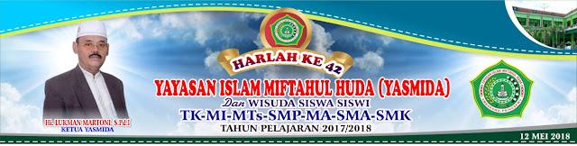 Desain Banner Harlah Dan Wisuda Yasmida Ambarawa