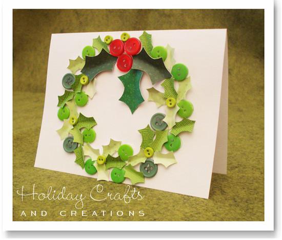 Homemade christmas card ideas wreaths final