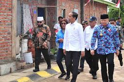Joko Widodo Tinjau Penataan Kampung Nelayan Sumber Jaya Bengkulu