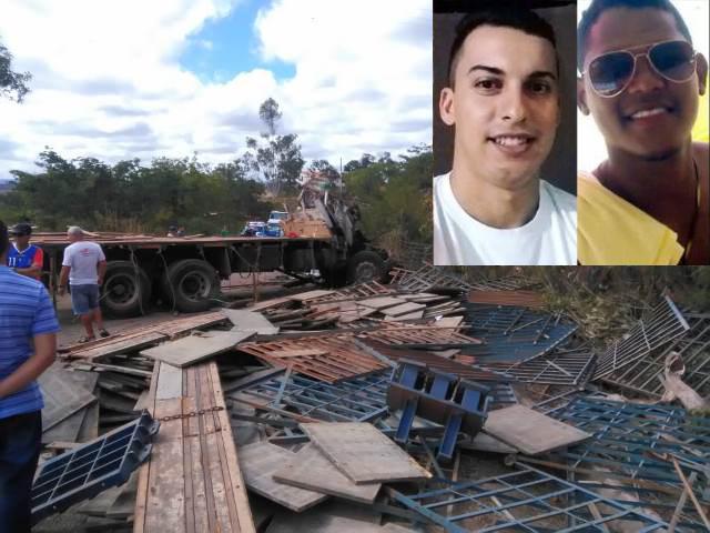 Chapada: Acidente com caminhão na BA-148 deixa dois mortos e um ferido