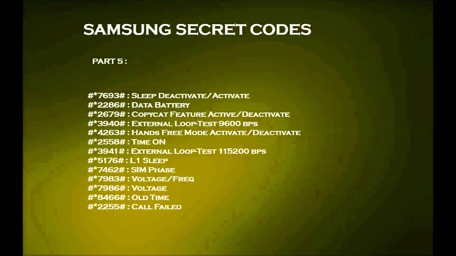 Samsung Smartphone Secret Code 100% Working - GSM Tool