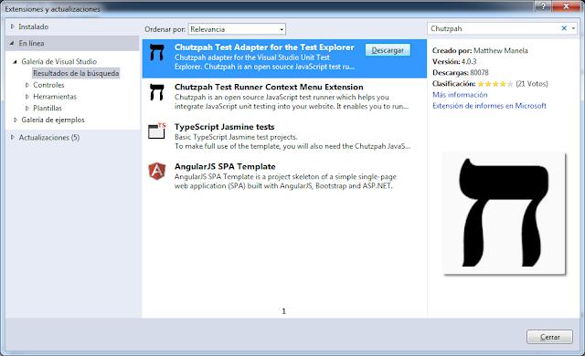 Instalar extensión de Visual Studio