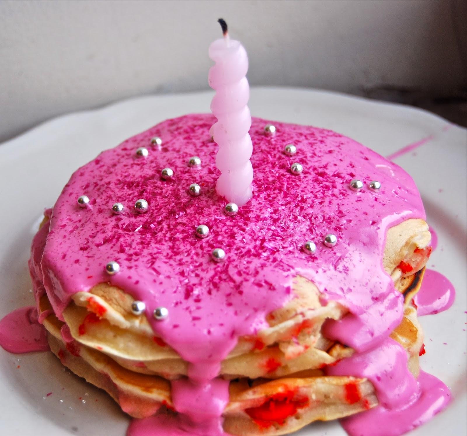 The Buttercream Birthday Cake Pancakes