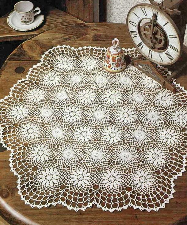 Crochet Patterns Of Lace Doily Circle Motifs