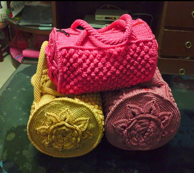 ergahandmade     Crochet       Bag     Free    Pattern        Diagrams