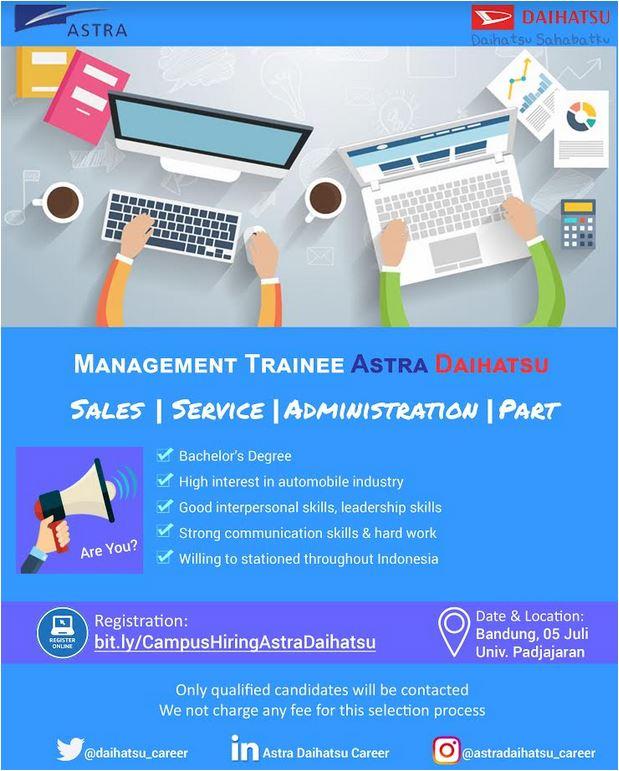 Lowongan Kerja Terbaru Management Trainee (MT) di Daihatsu 2018 asmf