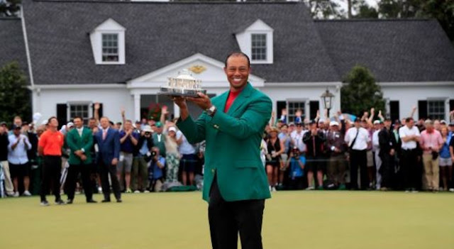 Tiger Woods Wins Masters Tournament - 1st Since 2005