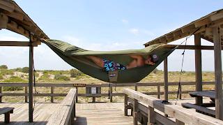 Leaning sideways in my ENO hammock