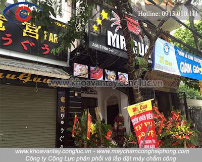 Phân phối và lắp đặt máy chấm công tại Văn Cao, Hải Phòng - Nhà hàng Mr. Cua