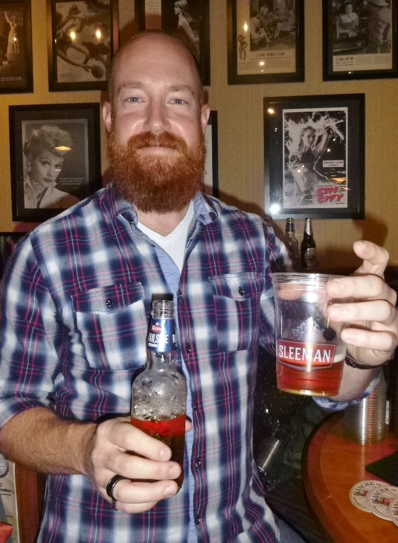 Big Ass Ginger Beard Check Yup Sleemans Rep Alex Brought His Craft A Game To The Beer Fest Here He Is Holding Up Their Railside