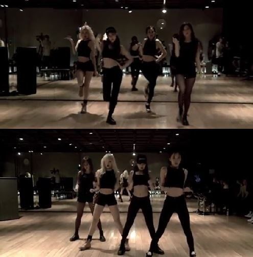 black pink shows their intense choreography in dance practice video