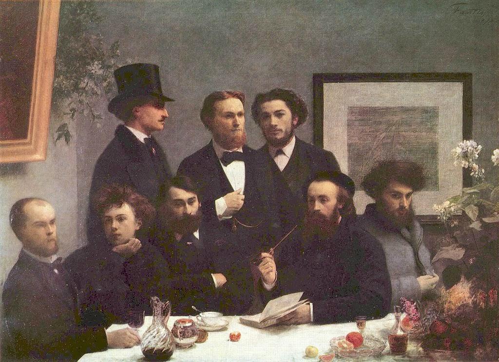 À Volta da Mesa (Escritores) - Henri Fantin-Latour - Suas melhores pinturas ~ francês