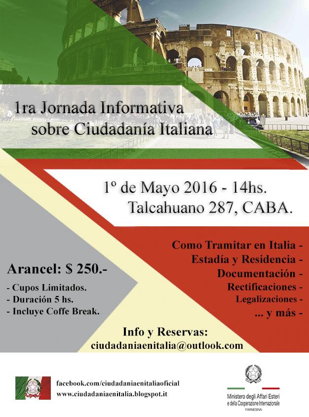 Cómo tramitar la Ciudadanía Italiana en Italia !: 1ra Jornada ...
