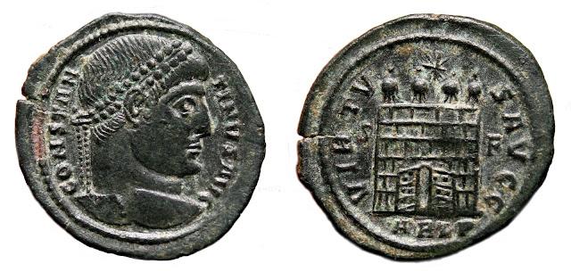 a nombre de Constantino I.