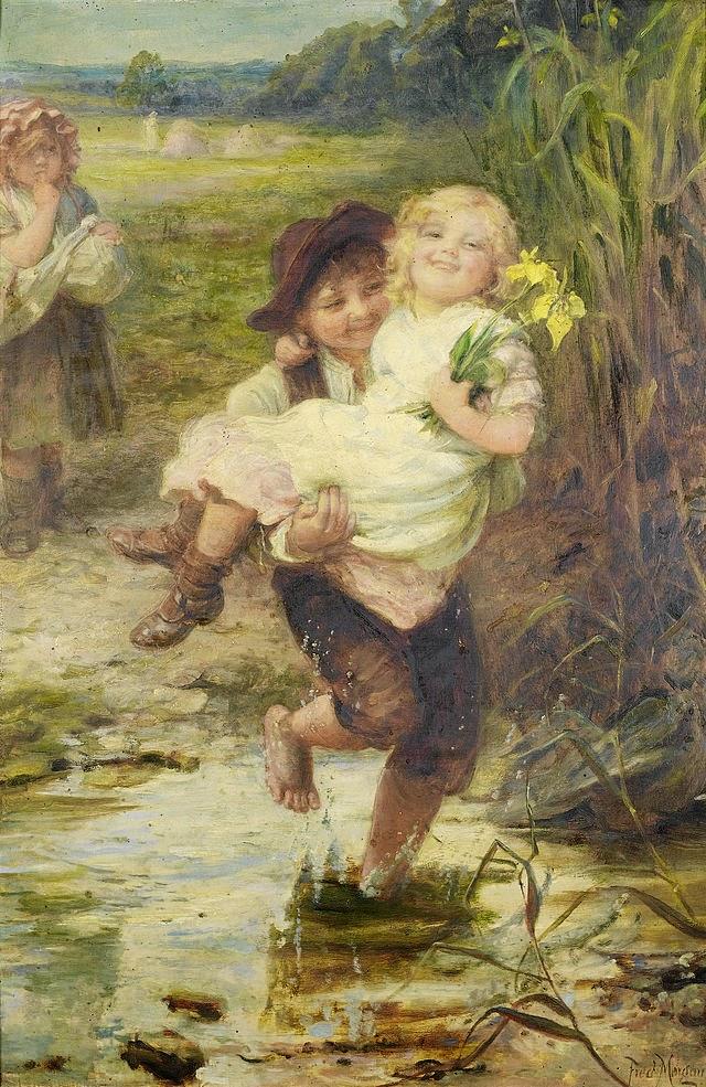 Jovem Cavaleiro - Frederick Morgan e suas pinturas ~ Pintor de cenas da infância