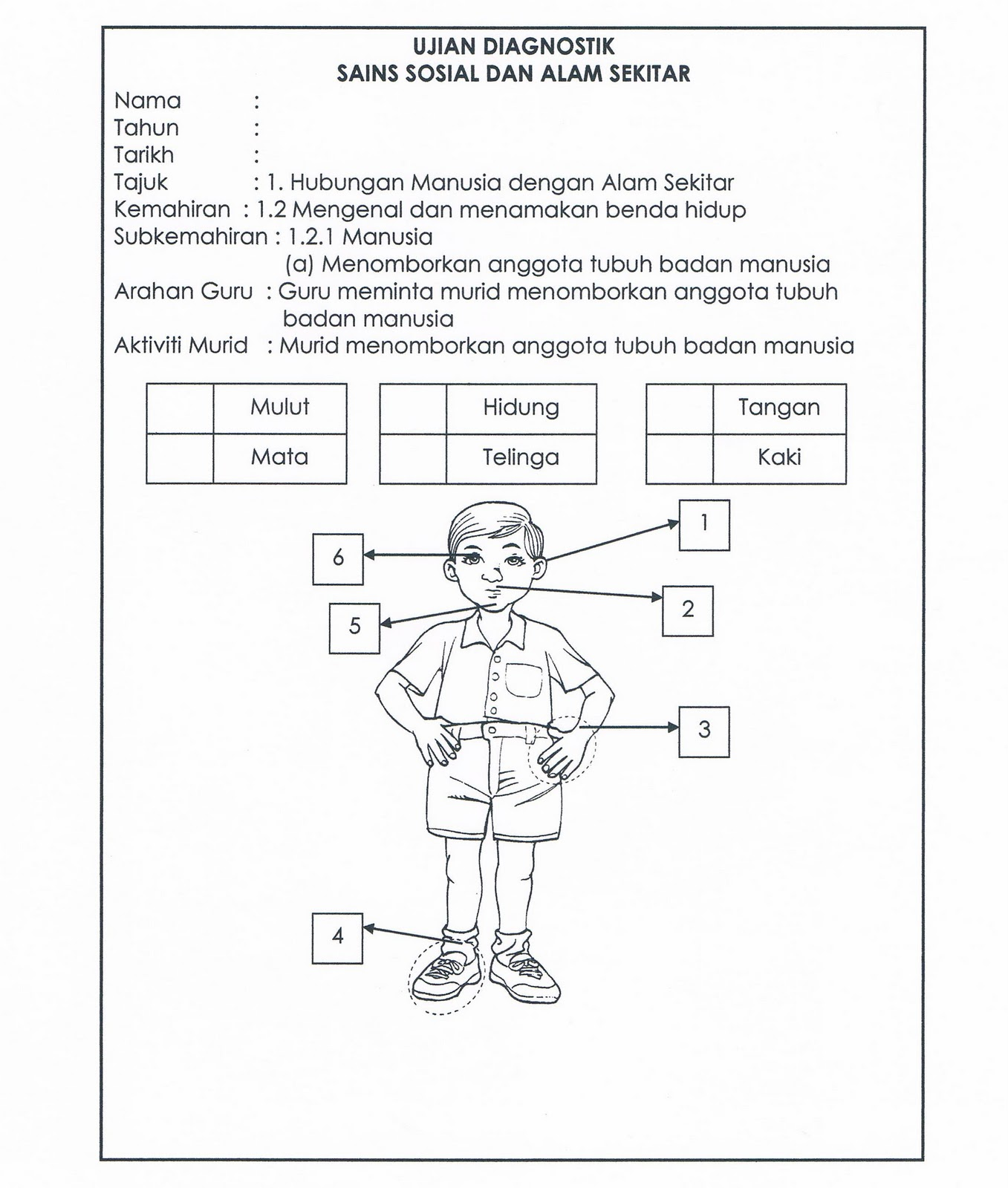 Worksheet Anggota Tubuh Printable Worksheets And Activities For Teachers Parents Tutors And Homeschool Families