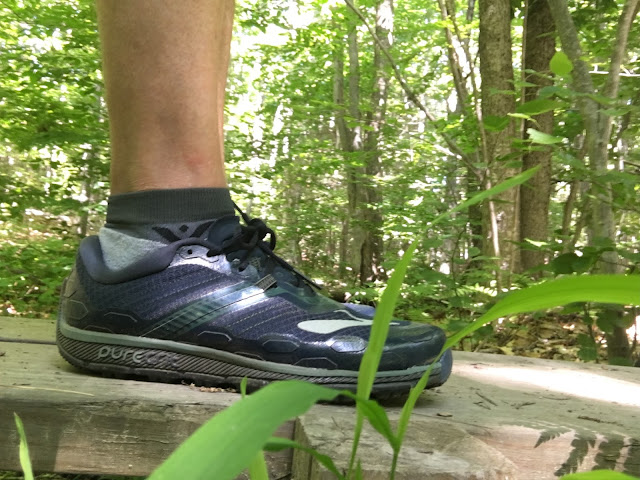 be5a740e23c The Brooks Running PureGrit 5 is a 9.9 oz 281 g men s 9 trail runner with a  21 mm heel  17 forefoot
