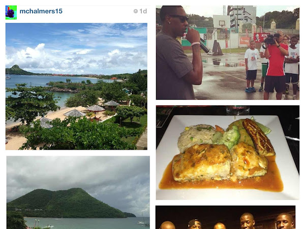 Two-time NBA Champion, Miami Heat Player Mario Chalmers - Weekend in St.Lucia