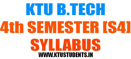 Ktu B Tech Syllabus Pdf