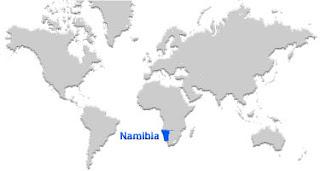image: Namibia map location