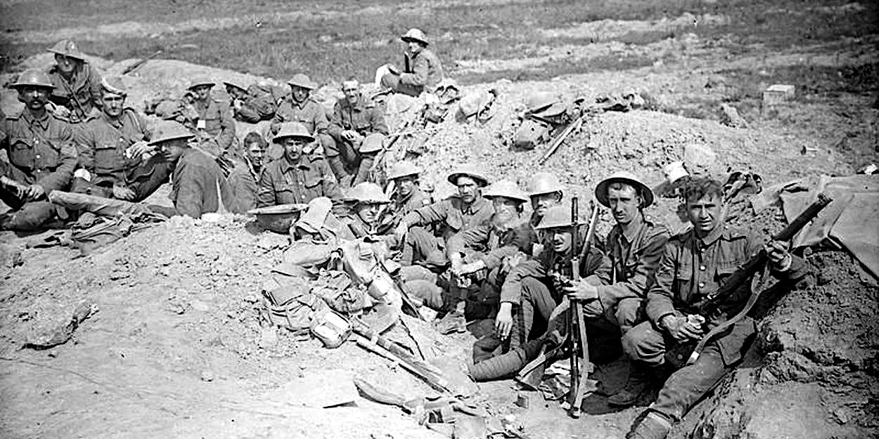 Welsh Guards in the front trenches