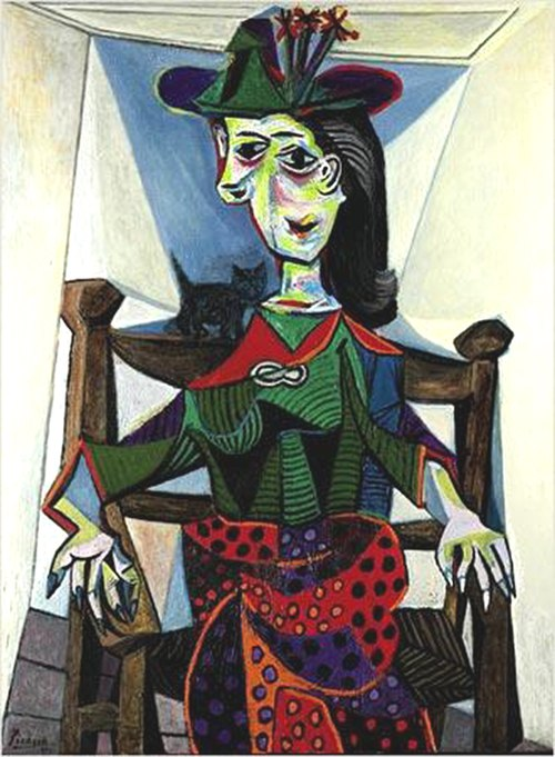 Dora Maar with Cat, Pablo Picasso