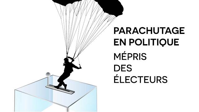 parachutage en polique