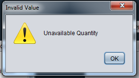 java inventory system - unavailable quantity