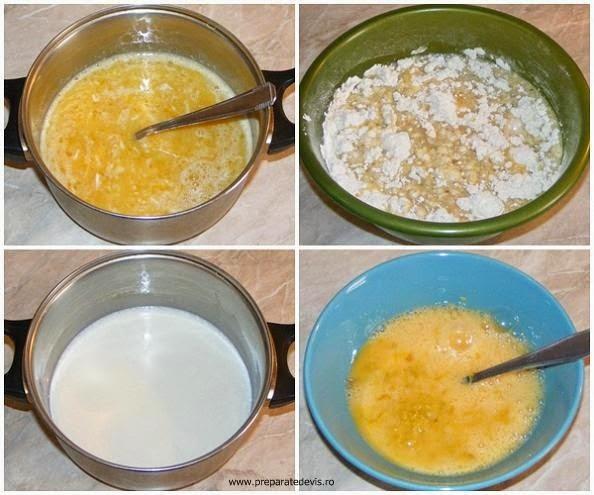 Lapte si oua pentru aluatul de cozonac reteta,