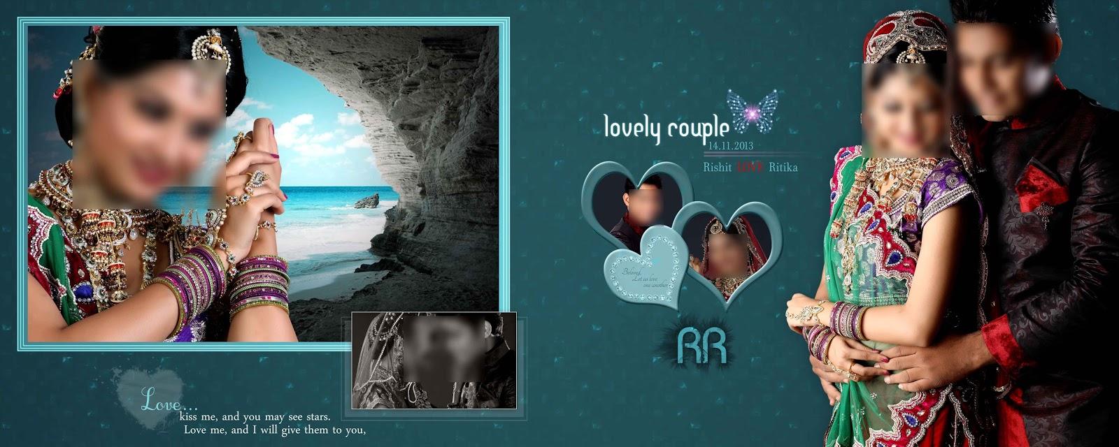 marriage photo album design templates