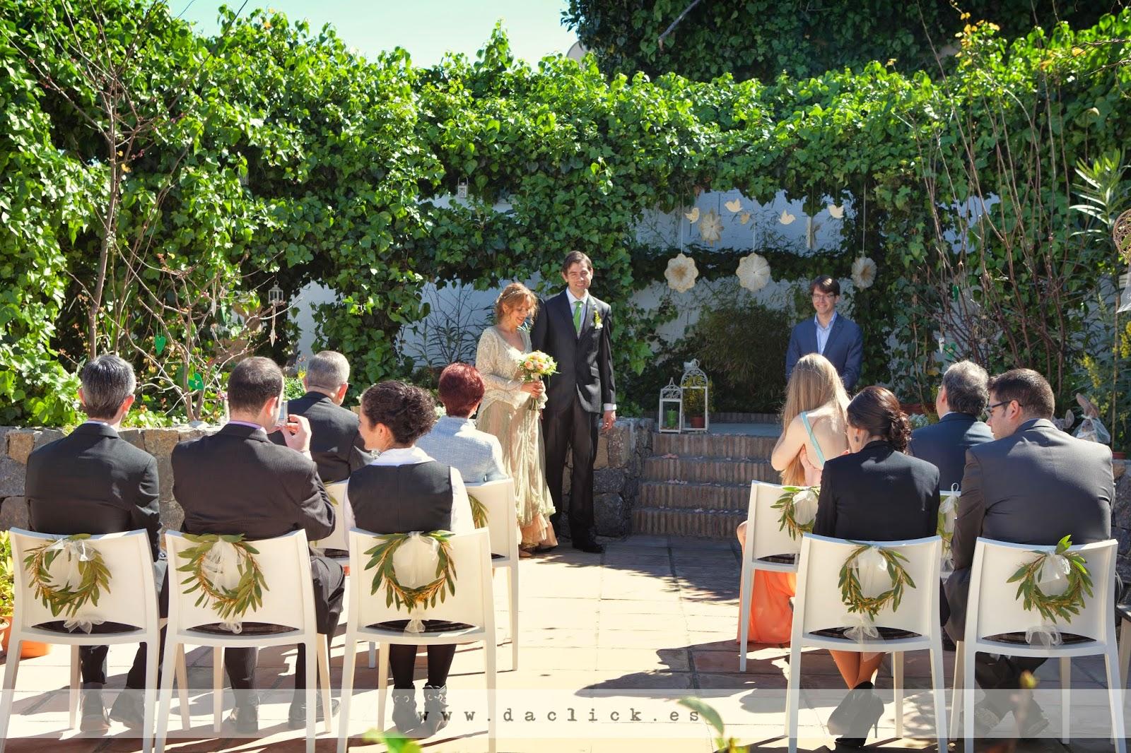 vista de la ceremonia por detrás