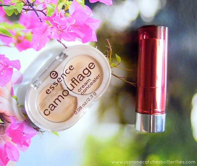 Essence Camouflage Cream Concealer and Sheer and Shine Lipstick