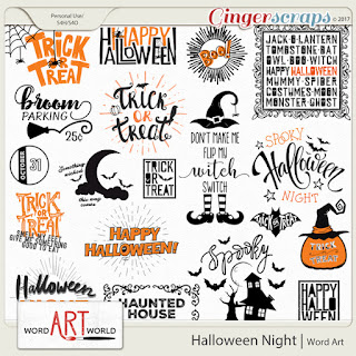 New Halloween Word Art + Free Word Art Pack!