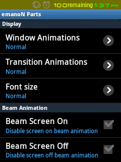 emanoN Parts - Top level Menu For All Custom Features included in emanoN rom since version 5