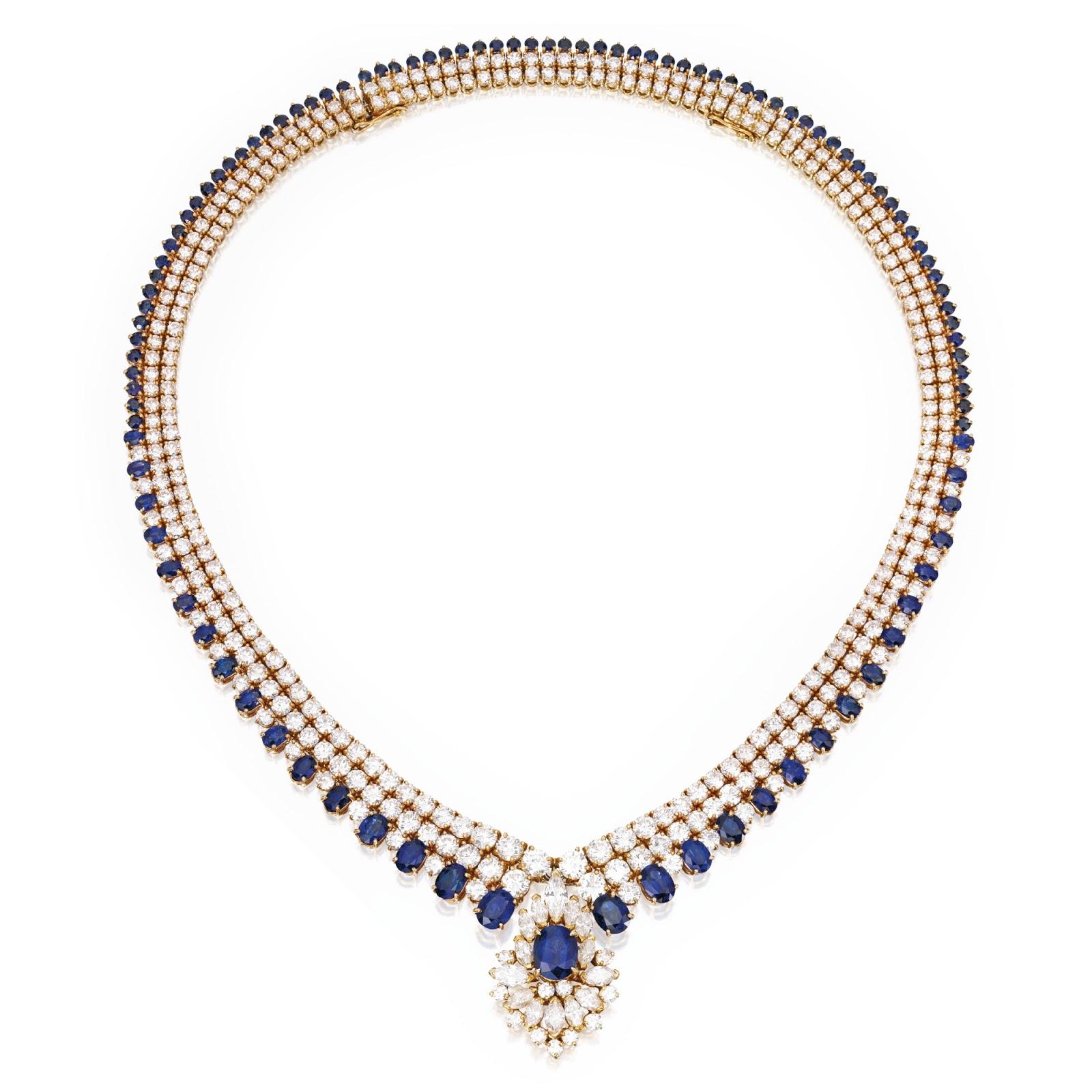 Marie Poutine s Jewels & Royals Magnificent Sapphire Necklaces