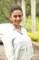 Rakul Preet Singh in Jeans and White Shirt At Jaya Janaki Nayaka le Logo Launch ~  Exclusive 061.JPG