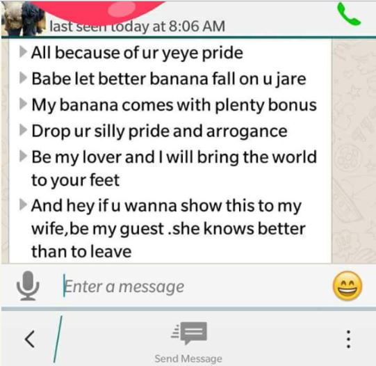 [Sad] Married Man Exposed On Facebook After Begging His Wife's Friend for S*x (See WhatsApp Chat) bunm4