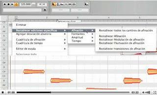 Melodyne, song-arranging program