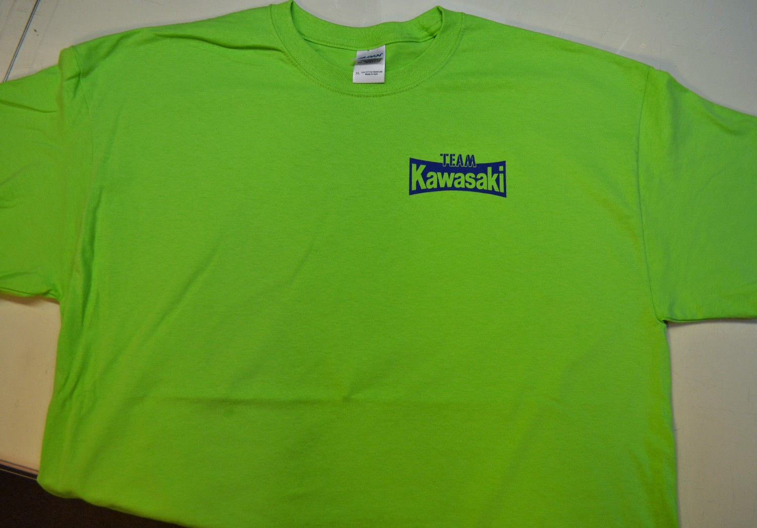 Kawasaki Team T-shirt - AHRMA Vintage Motocross MX VMX Green