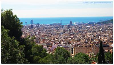 Barcelona; Conhecendo a Europa; sem guia; turismo na espanha; Park Guell; Vista de Barcelona
