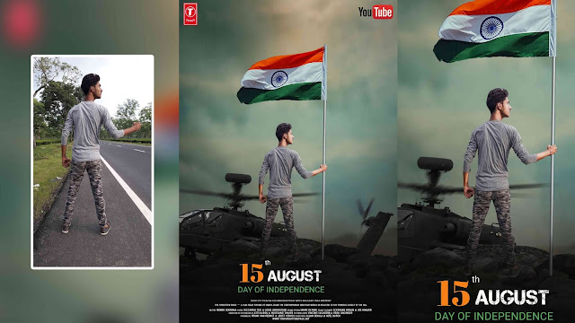 15 August Photo Editing Action Movie Poster Picsart Tutorial