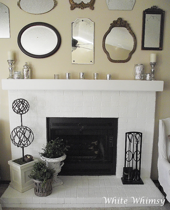 White Whimsy: Adding Spring Touches To The Fireplace