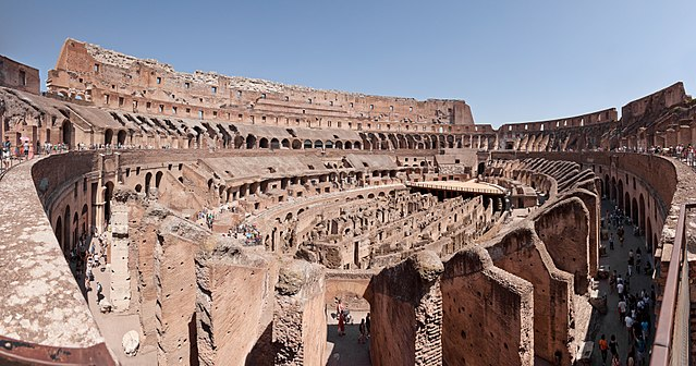 Inside view of Colosseum, Rome, Italy