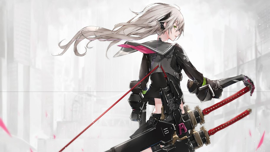 Anime, Girl, Katana, Sci-Fi, 4k, 3840x2160, #32 Wallpaper