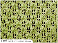 LACE KNITTING #1 - Fern or Leaf-Patterned stitch