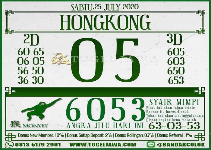 Kode syair Hongkong Sabtu 25 Juli 2020 255