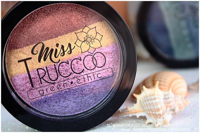 miss trucco eyeshadow palette ombretti terra e acqua mix perfetto viola bronzo  recensione